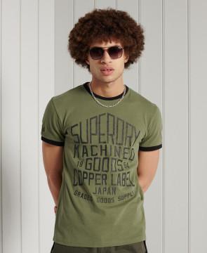 Ανδρική Κοντομάνικη Μπλούζα SUPERDRY - Workwear Ringer Standard Weight T-Shirt - Four Leaf Clover superdry-M1010994A-M6B