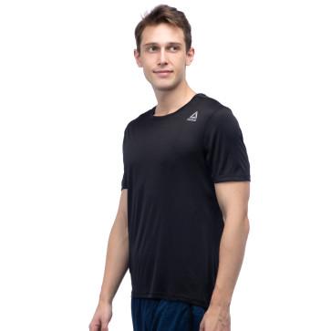 Ανδρική Κοντομάνικη Μπλούζα Reebok running short sleeve tee - Μαύρο reebok-CY4668