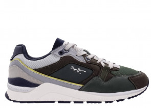 Ανδρικά Sneakers Pepe Jeans - MONOCHROME COMBINED RUNNING SHOES PEPE-JEANS-PMS30736-765 KHAKI GREEN