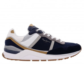 Ανδρικά Sneakers Pepe Jeans - X20 BASIC COMBINED RUNNING SHOES pepe-jeans-PMS30734-595 NAVY