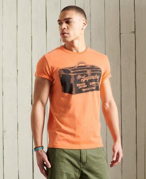 Ανδρική Κοντομάνικη Μπλούζα SUPERDRY - Workwear Graphic Standard Weight T-Shirt - Bright Orange Marl superdry-M1011196A-5EG Bright Orange Marl