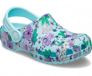 Παιδικά Σανδάλια Crocs™ Classic Floral Clog PS - Icy Blue crocs-206146-4O9
