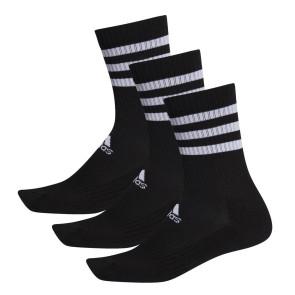 Κάλτσες adidas 3 Ζευγάρια 3-Stripes Cushioned Crew Socks - ΜΑΥΡΟ DZ9347